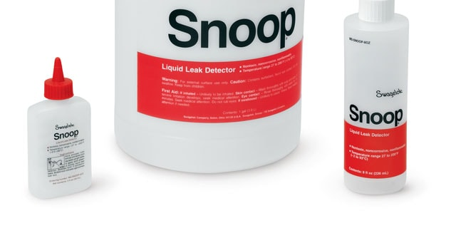Swagelok snoop for leak detection
